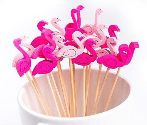 PuTwo 100ct 4.7'' Cocktail Picks Handmade Bamboo Toothpicks (Flamingo) by PuTwo (Image #4)