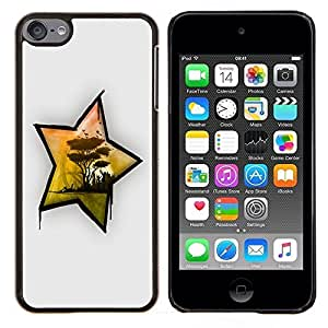LECELL--Funda protectora / Cubierta / Piel For Apple iPod Touch 6 6th Touch6 -- África Estrella --