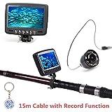 "Hopezone Underwater Fish Finder 4.3"" Screen Underwater Camera Ice / Sea/ Boat Fish Finder Easy-rod-install 800tvl | Wih Keychain"