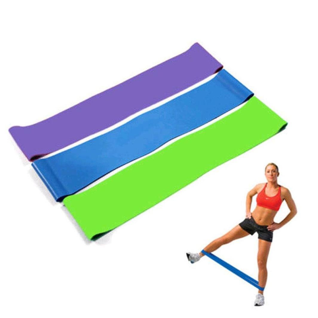 LtrottedJ Resistance Band Loop Yoga Pilates ,Home GYM Fitness Exercise Workout Training