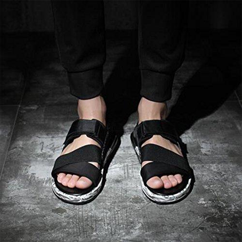 Scarpe Estiva Sandali Con Da Tendenza Blackcamouflage ZHONGST Selvagge Casual Uomo Spiaggia Da 5 Black Romani 40 x8qanI