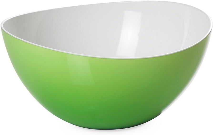 Omada Design Ensaladera/tazón en plástico irrompible de dos tonos, Made In Italy, diámetro 26 cm, capacidad de 3.5 litros, apto para lavavajillas, Trendy Line