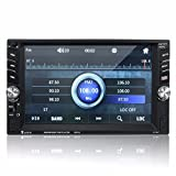 Car Radio MP5 Player, M.Way 6.6 Inch Touch Screen 2DIN Car MP5 Player Bluetooth Stereo Radio Player In Dash with Bluetooth USB TF Card Wireless Remote Control