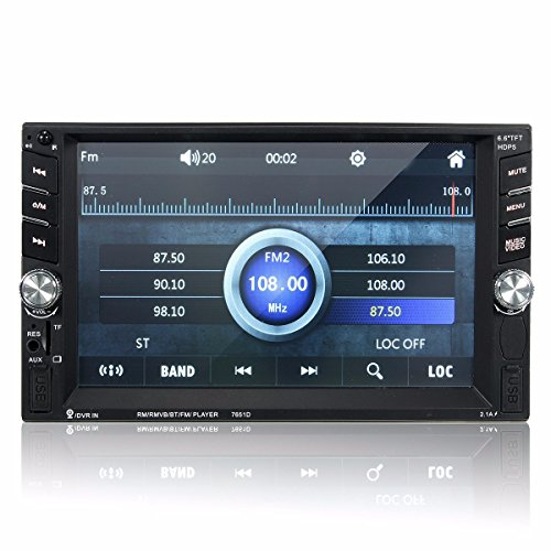 Car Radio MP5 Player, M.Way 6.6 Inch Touch - 5 Touchscreen Car Stereo