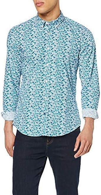 Springfield LB Microflower Print Camisa Casual para Hombre