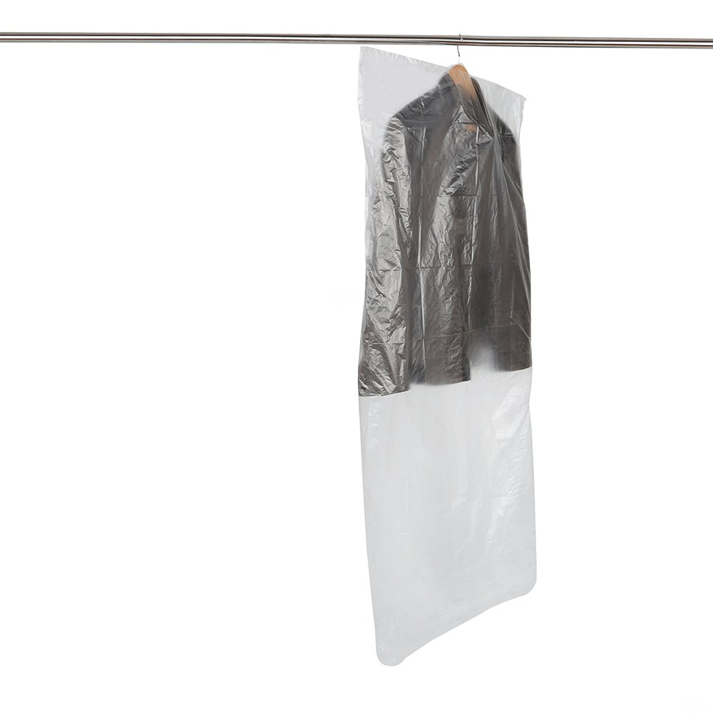 Boli SCENTED 20 Clear Polythene Garment Covers Clothes Bag Plastic Dry Cleaner Cover Bags - 10PCS 60