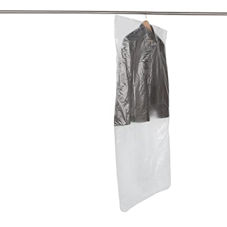 e127b56ccf7e Boli SCENTED 20 Clear Polythene Garment Covers Clothes Bag Plastic Dry  Cleaner Cover Bags - 10PCS 60 ...
