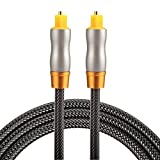 Optical Cables, 1m OD6.0mm Gold Plated Metal Head Woven Line Toslink Male to Male Digital Optical Audio Cable