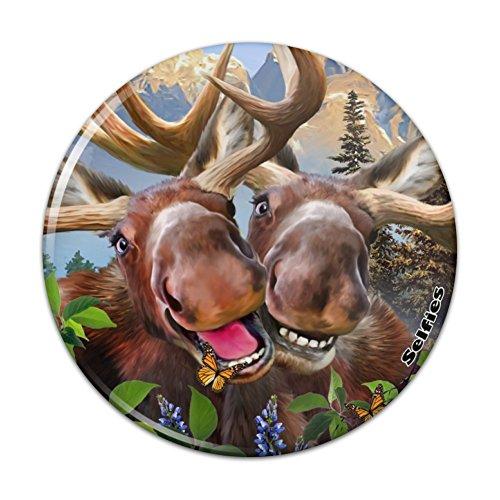 Moose Selfie Compact Pocket Purse Hand Cosmetic Makeup Mirror - 2.25