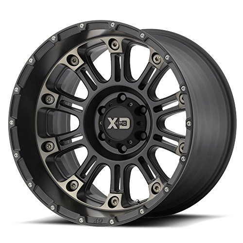 17×9 XD 829 Hoss 2 Satin Black Machined Dark Tint Clear Coat 8×165.1 Offset -12 Wheels Rims XD82979080912N