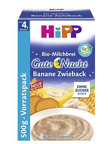 Hipp buenas noches puré de plátano 500 g galletas, 4-pack (4 x
