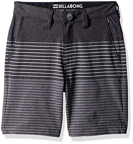 Billabong Boys' Big Crossfire X Stripe Walkshort, Charcoal 22