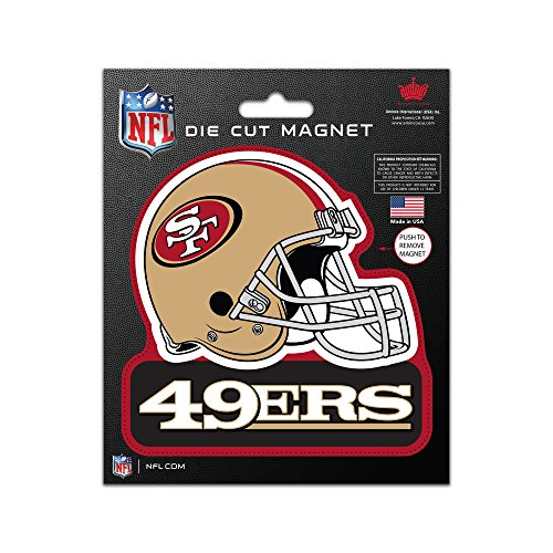NFL San Francisco 49Ers Die Cut Magnet, 5 x 6-inches