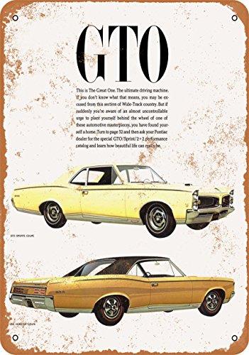Wall-Color 7 x 10 METAL SIGN - 1967 Pontiac GTO - Vintage Look Reproduction
