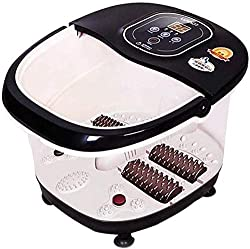Foot Spa Massager,Multi-Function Heat Infrared Vibrating Air Bubble Electric Foot Massager Foot,SPA Bath Massager Foot Shiatsu