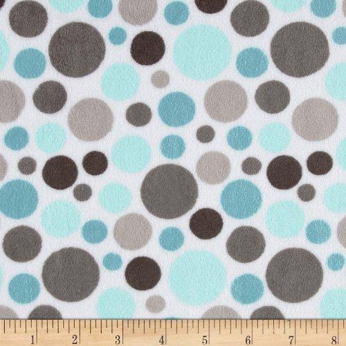 Topaz Bubble - Shannon Fabrics Shannon Minky Cuddle Bubble Dot Topaz Fabric By The Yard