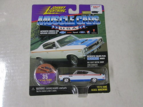 Johnny Muscle Cars 1970 AMC Rebel Machine White/Red/Blue ...