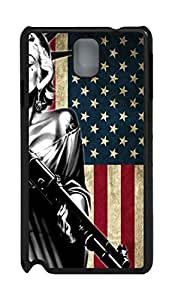 Samsung Galaxy Note 3 N9000 Cases & Covers Marilyn Monroe American Flag HAC1014341 Custom PC Hard Case Cover for Samsung Galaxy Note 3 N9000 Black