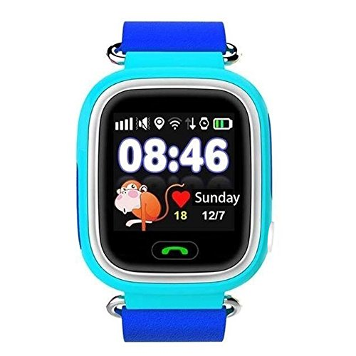 Haihuic Q90 GPS Tracker Sim Card SOS Call Baby Samrt Watch with 1.22 Inch Touch Screen Anti-lost for Kids Safe
