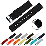 BARTON Quick Release - Choose Color & Width (16mm, 18mm, 20mm, 22mm) - Black 16mm Watch Band Strap