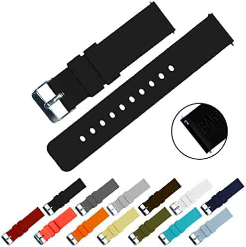 BARTON Quick Release - Choose Color & Width (16mm, 18mm, 20mm, 22mm) - Black 22mm Watch Band Strap