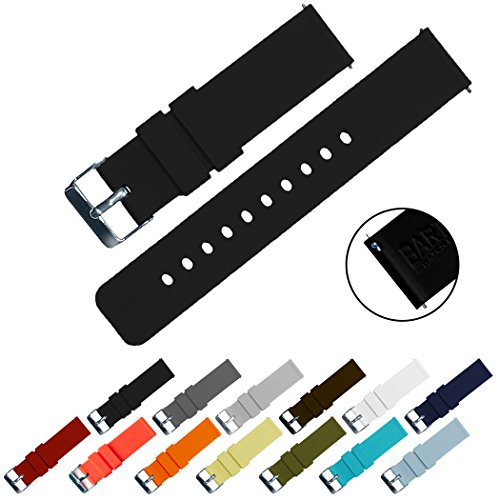 BARTON Silicone Quick Release - 24mm Width - Choice of Color - Silky Soft Rubber Watch Bands