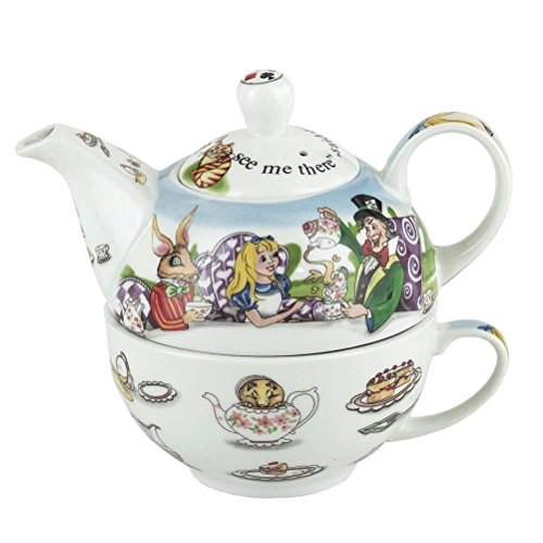Paul Cardew Teapot - Cardew Design Alice in Wonderland Tea for One 16-Ounce Teapot and 10-Ounce Cup