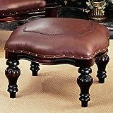 Design Toscano Victorian Rococo Faux Leather Ottoman