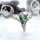 Green Crescent Moon Evenstar Arwen Circlet Headdress