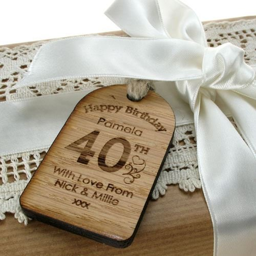 40th Birthday Gifts For Women Gift Tag Personalised Bottle Label Unique Fortieth Amazoncouk Kitchen