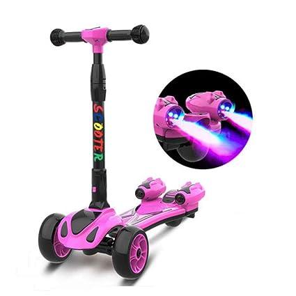 Amazon.com: Scooter para niños 3 ruedas Lean a Steer altura ...