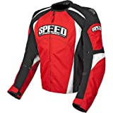 Speed and Strength Twist of Fate 3.0 Men's Textile Street Bike Racing Motorcycle Jacket - Red/Black / Large
