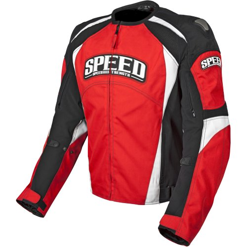 Speed and Strength Twist of Fate 3.0 Men's Textile Street Bike Racing Motorcycle Jacket - Red/Black / - Jackets Bike Racing