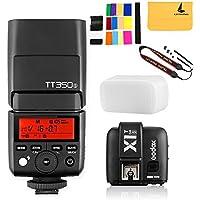 GODOX TT350S Mini Flash TTL HSS 1 / 8000s 2.4G wireless with X1T-S Flash Trigger Transmitter 2.4G Wireless Remote Transmitter for Sony Mirrorless Camera Cameras a7R a58 a99 ILCE6000L a77II RX10