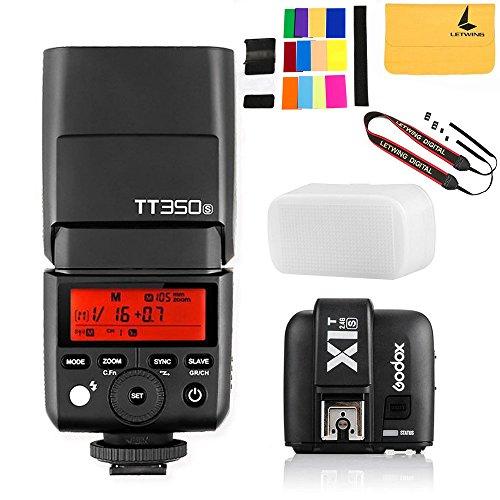 GODOX TT350S Mini Flash TTL HSS 1 / 8000s 2.4G wireless with X1T-S Flash Trigger Transmitter 2.4G Wireless Remote Transmitter for Sony Mirrorless Camera Cameras a7R a58 a99 ILCE6000L a77II RX10 by Godox