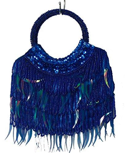 Geko - Bolso de asas para mujer plata small azul