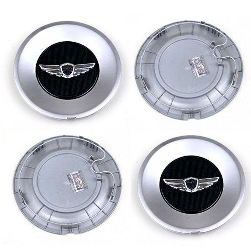 OEM Genuine Genesis Wing 18inch Wheel Center Caps 529603m100 V6 3.8 Sedan Wheel Caps (Set of 4) with One Ganda Anti Electromagnetic Radiation Sticker