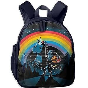 Halloween Unicorn Lightweight Kid Backpack Boys Girls Toddler School Backpack Snack Backpack 12.5-inches