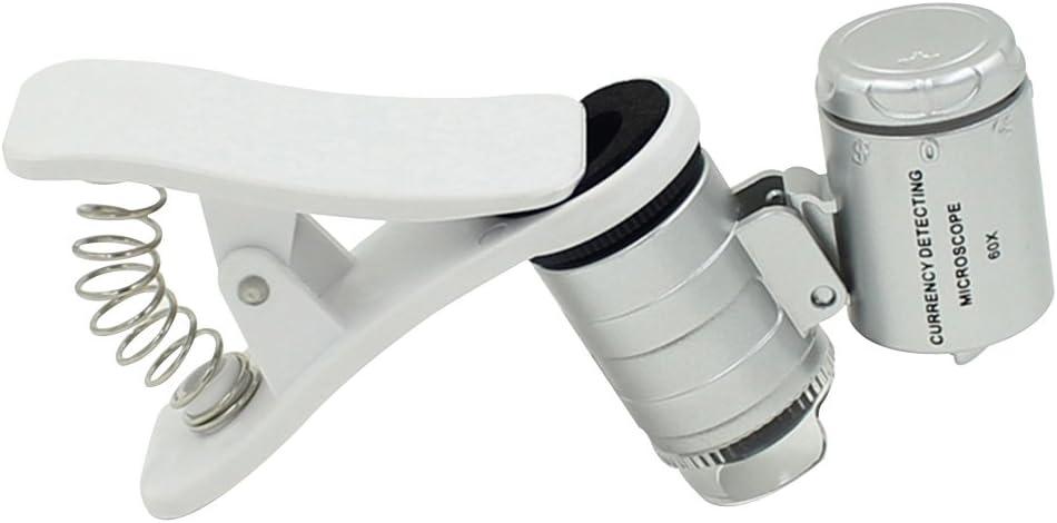 Skitic 60 x Zoom Digital Mobile Phone Microscope Magnifier, LED ...