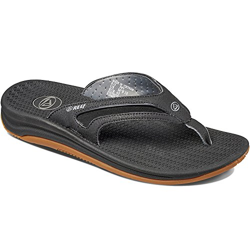(Reef Men's Flex Sandal, Black/Silver, 10 M)