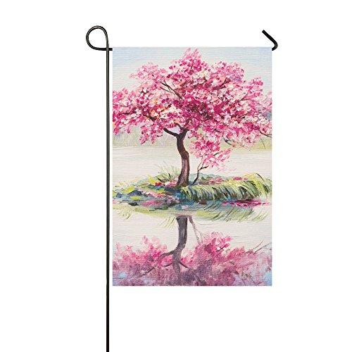 InterestPrint Oriental Cherry Blossom Tree Sakura Double Sid