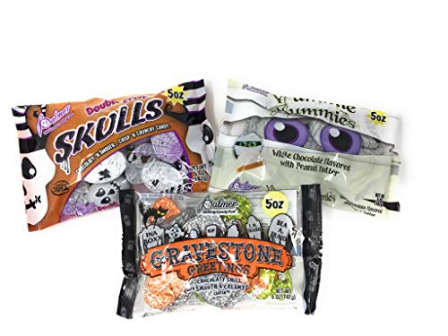 Halloween Trick or Treat Chocolate Bundle with Yummie Mummies, Double Crisp Skulls and Gravestone Greetings]()
