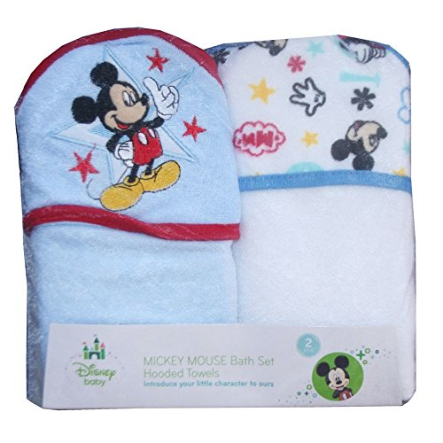 Disney Baby Mickey Mouse Set Pack 2 Sorties de Bain Ensemble-cadeau