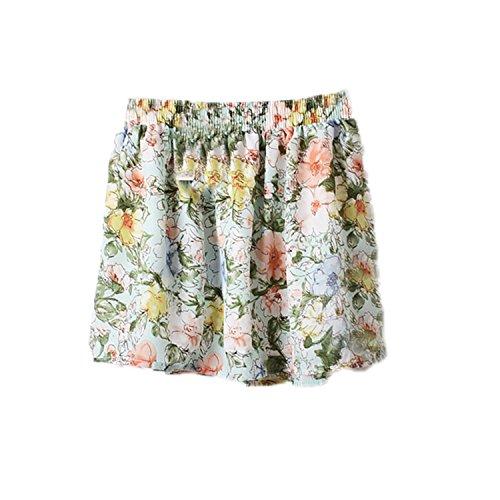 Xingyunlin Fashion Summer Women's European Sweet Style Clothing Floral Print Mini Chiffon Short Skirts For Teenager Girls Color3 One - Mall Newport Newport Ri