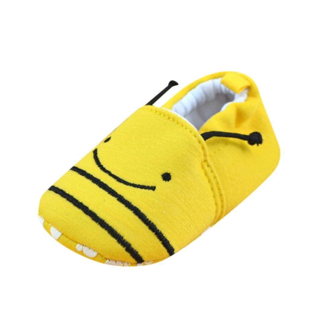 Manadlian Chaussures Bébé Chaussons pour Bébé Soft Slippers, pour 3-12 Mois Bébé