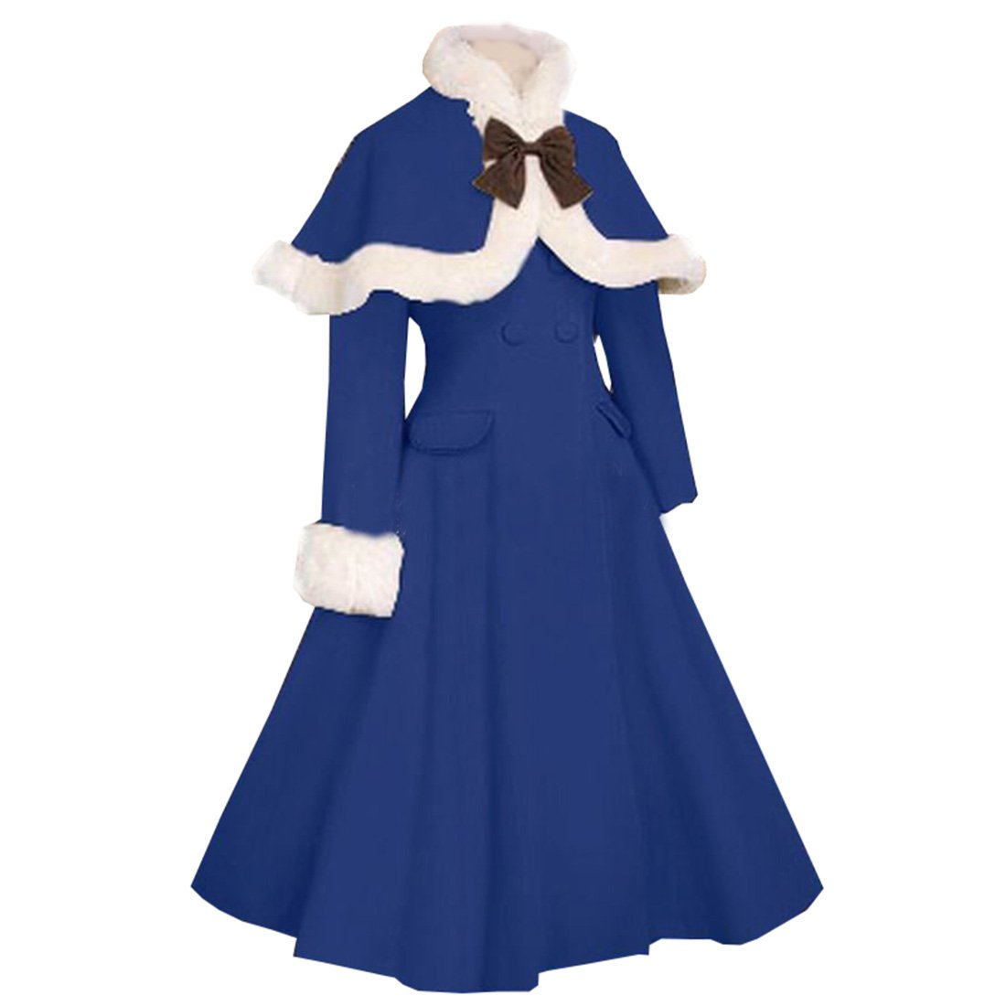 Vintage Style Children's Clothing: Girls, Boys, Baby, Toddler Partiss Women Gothic Lolita Double-breasted Thicken Long...  AT vintagedancer.com