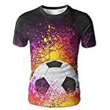 Flame Over The Calf Soccer Men Slim Fit Short Sleeve Running T-Shirt Shirts