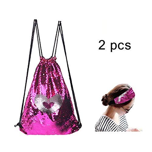 Drawing Glitter - Deer Mum Sequins Glitter Backpack Mermaid Magic Drawing Dance Shoulder Bags For Girls