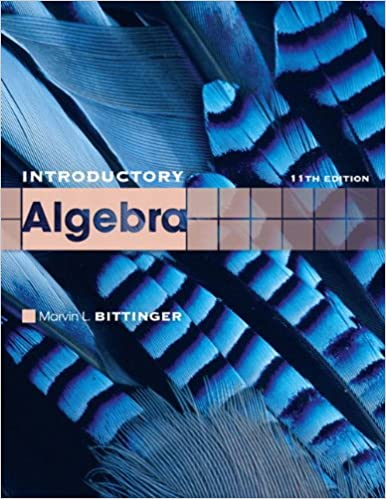 Introductory algebra 11th edition the bittinger worktext series introductory algebra 11th edition the bittinger worktext series marvin l bittinger 9780321599216 amazon books fandeluxe Images