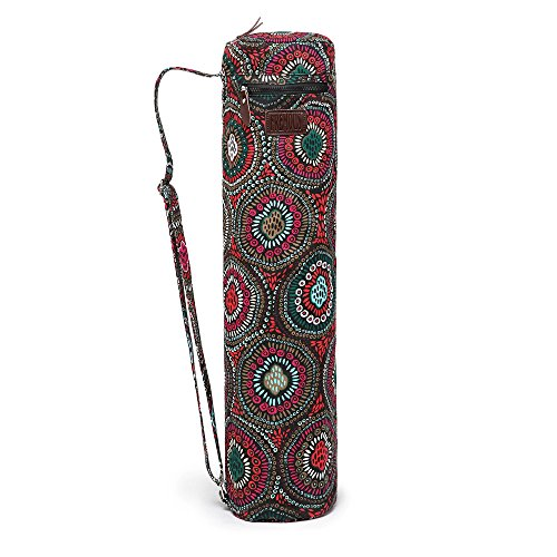 Fremous Yoga Mat Bag and Carriers for Women and Men - Double Storage Pocket - Easy Access Zipper - Adjustable Shoulder Strap and Handle (Circle)